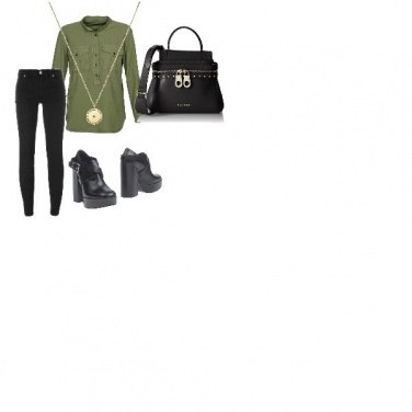 Outfit Green & black