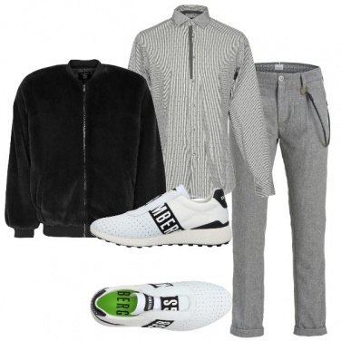 Outfit Bomber in ecopelliccia