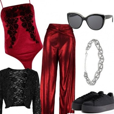 Outfit Rouge glamour