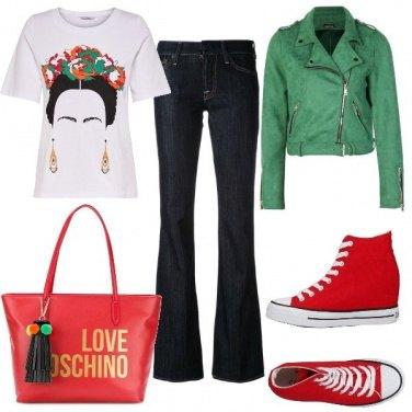 Outfit Rosso e verde