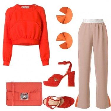 Outfit Sui toni dell'arancio