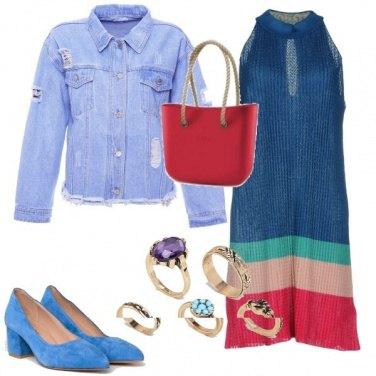 Outfit Denim e fasce di colore
