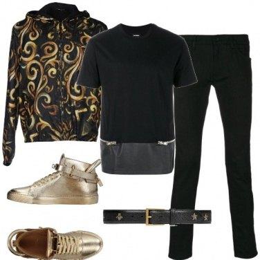 Outfit Oro e nero