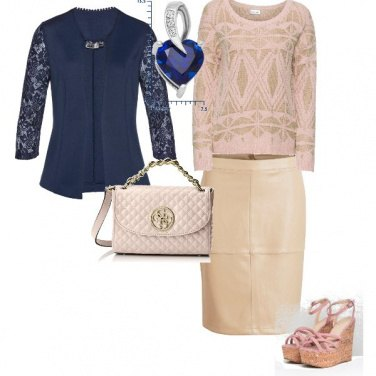 Outfit rosa chic
