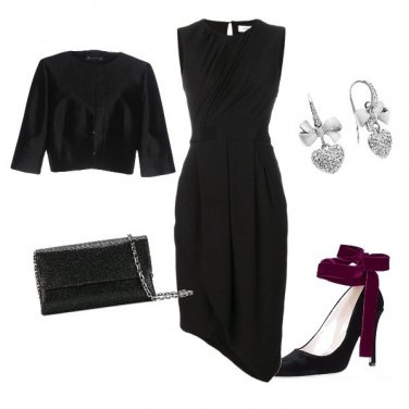 Outfit Seta nera