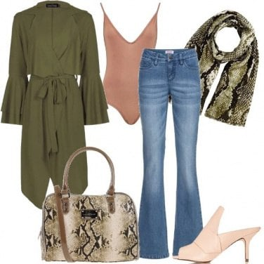 Outfit Dettagli pitonati