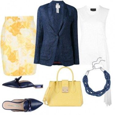 Outfit un pó di sole in ufficio