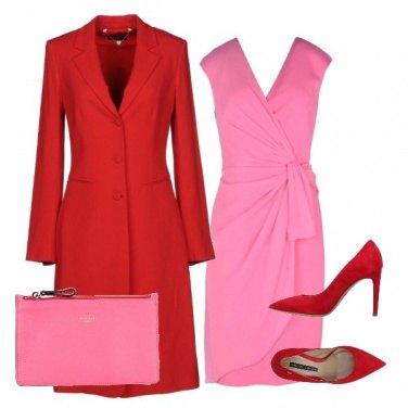 Outfit rosso e rosa, sì!