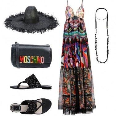 Outfit accessori neri al mare