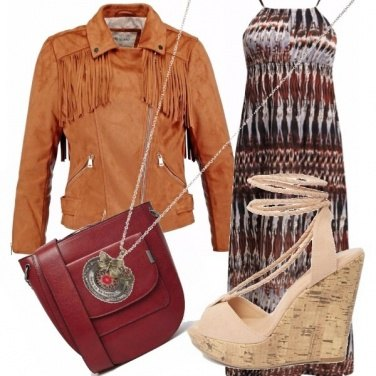 Outfit Boho in lungo