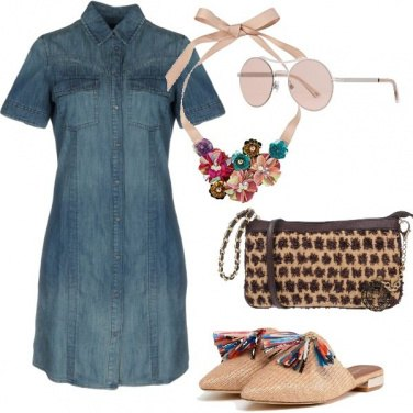 Outfit Nappine colorate sulle mule