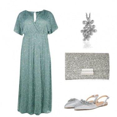 Outfit Verde e argento