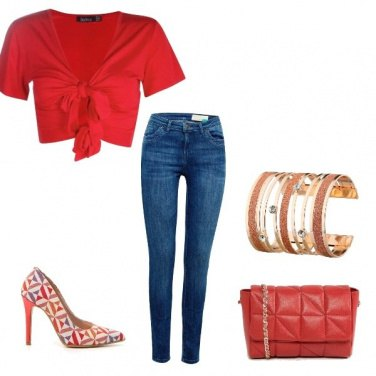 Outfit Urban red lady