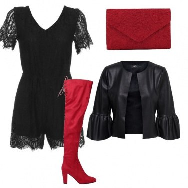 Outfit Black and red