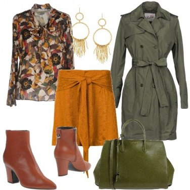 Outfit Il trench verde