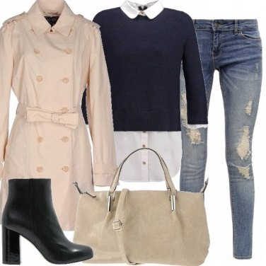Outfit Trench e jeans