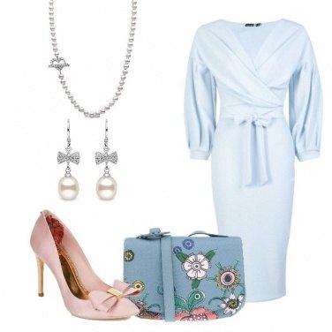 Outfit Il vestito color cielo