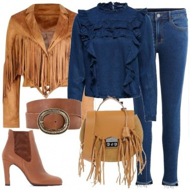Outfit Rouches e frange