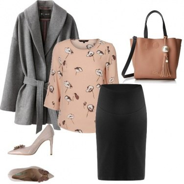 Outfit Fiori e farfalle in ufficio