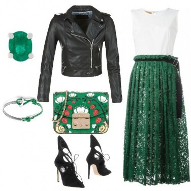 Outfit chic green