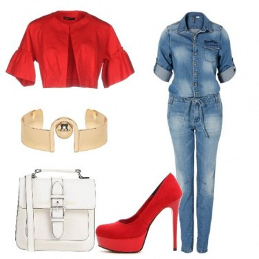 Outfit Come Dior jumpsuit in jeans e tacchi
