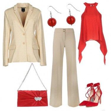 Outfit Rosso elegante