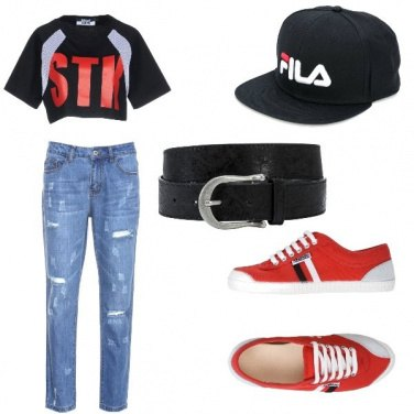 Outfit T shirt cropped