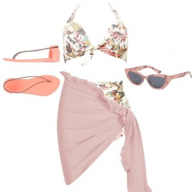Outfit Vintage in spiaggia