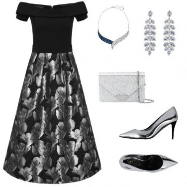Outfit Serata in Argento