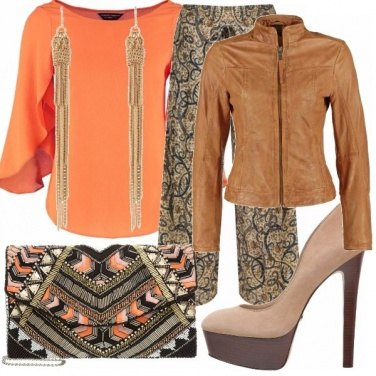 Outfit Arancio etnico