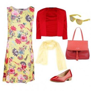 Outfit In Giallo e Rosso