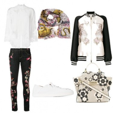Outfit Tigri e fiori