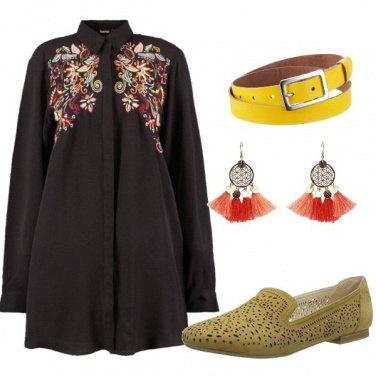 Outfit Il camicione fiorito