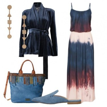 Outfit Abito con stampa batik