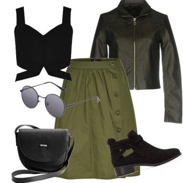 Outfit Black and green