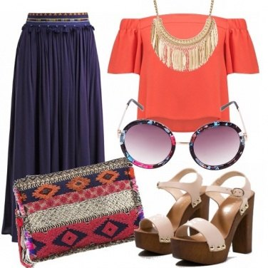 Outfit Bohemian color block