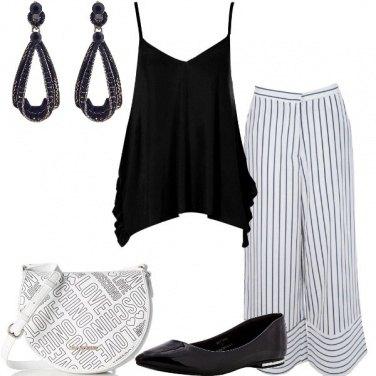Outfit Righe e ballerine