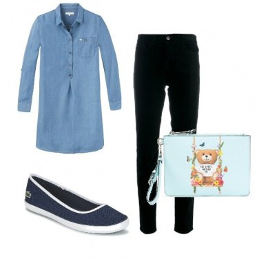 Outfit Simply in blu