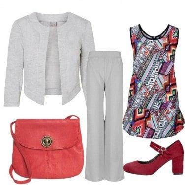 Outfit Geometrie in grigio