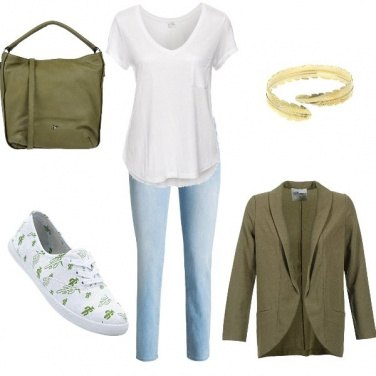 Outfit Green spring