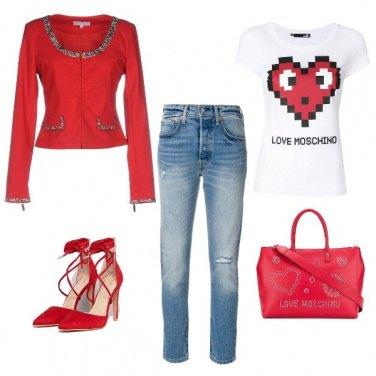 Outfit Rosso in ufficio