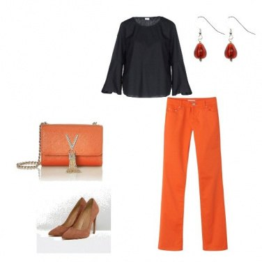Outfit il jeans arancio