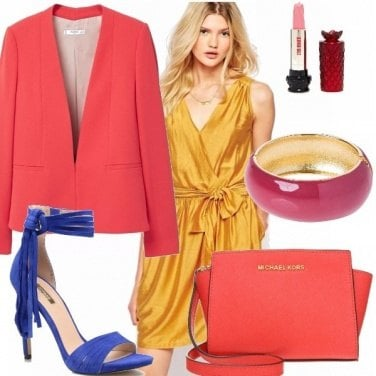 Outfit Super power color block