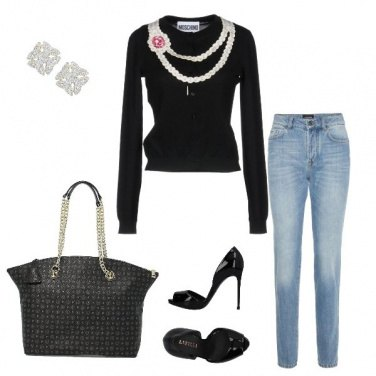 Outfit maglia con perle by Maryso