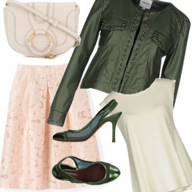 Outfit Il chiodo verde