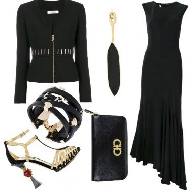 Outfit Eleganza in black and gold