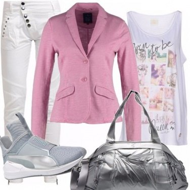 Outfit Silver e pink