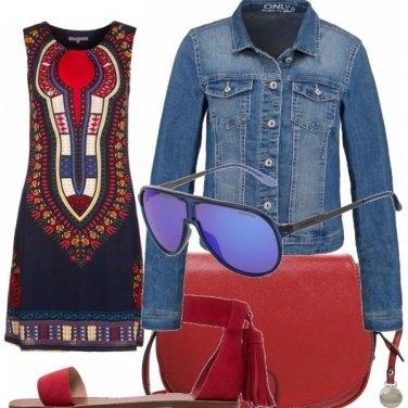 Outfit Rosso e blu accoppiata vincente