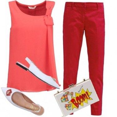 Outfit Peach & fiesta