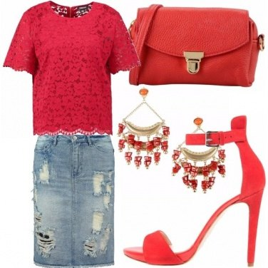 Outfit Red & denim